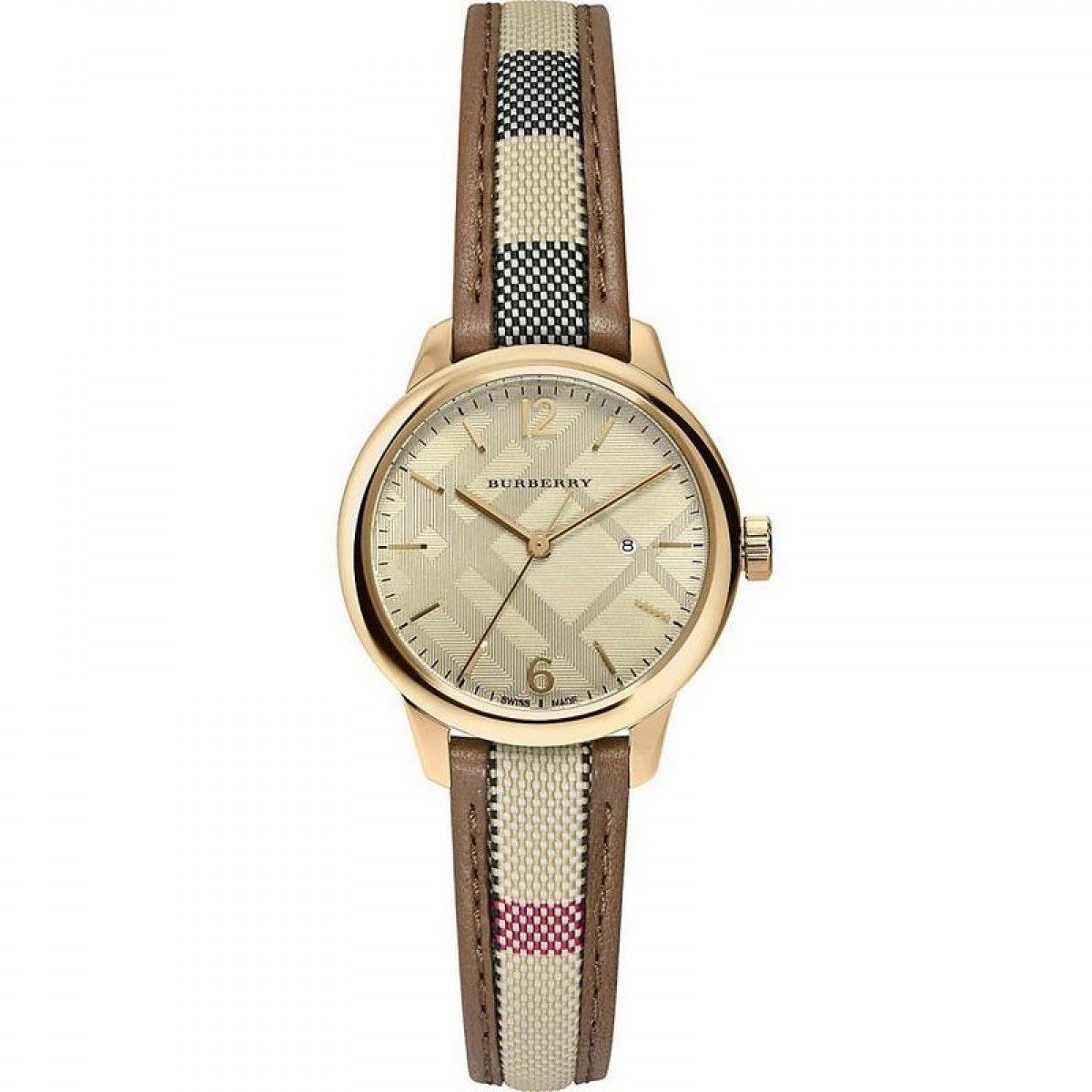 Ladies Burberry Classic Round Watch BU10114