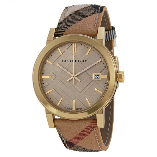 Mens Burberry The City Haymarket Check Watch BU9026