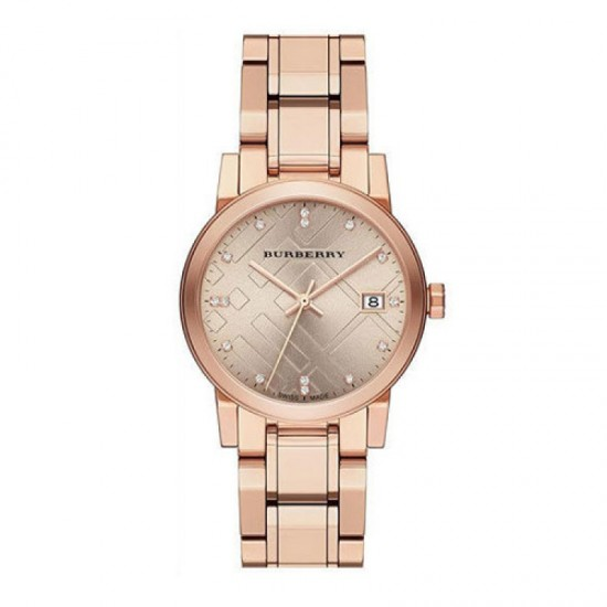 Ladies Burberry The Watch Rose Gold Watch BU9126