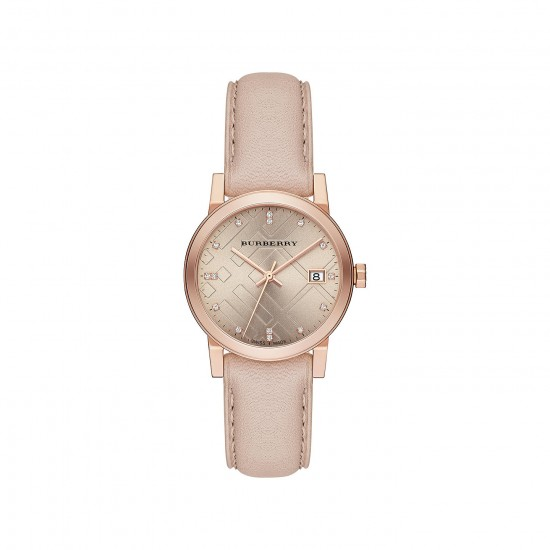 Ladies Burberry The City Engraved Watch BU9131