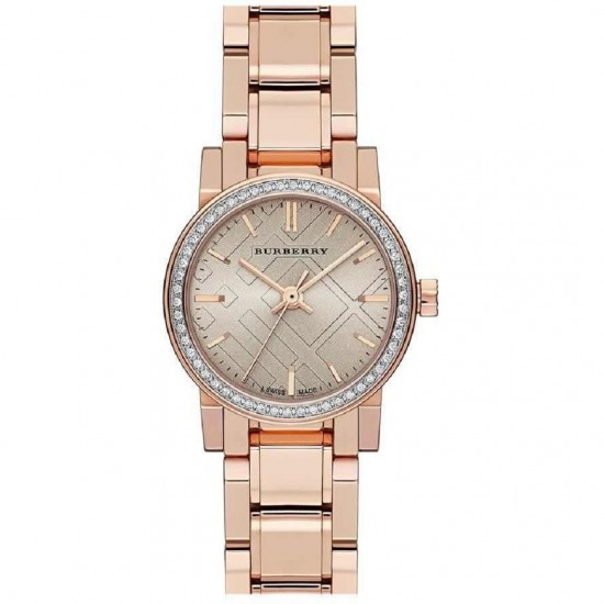 Ladies Burberry The City Diamond Chronograph Watch BU9225