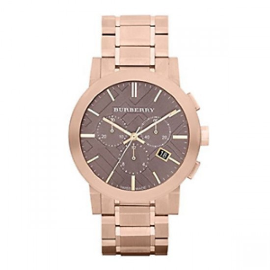 Mens Burberry Rose Gold Plated Watch BU9353