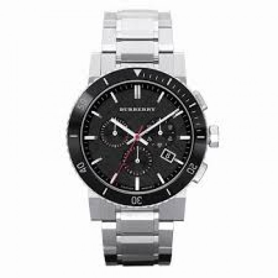 Mens Burberry Black Chronograph Watch BU9380
