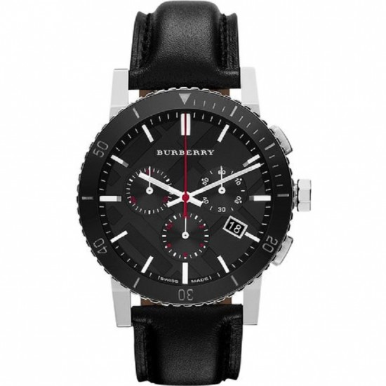 Mens Burberry Chronograph Black Watch BU9382