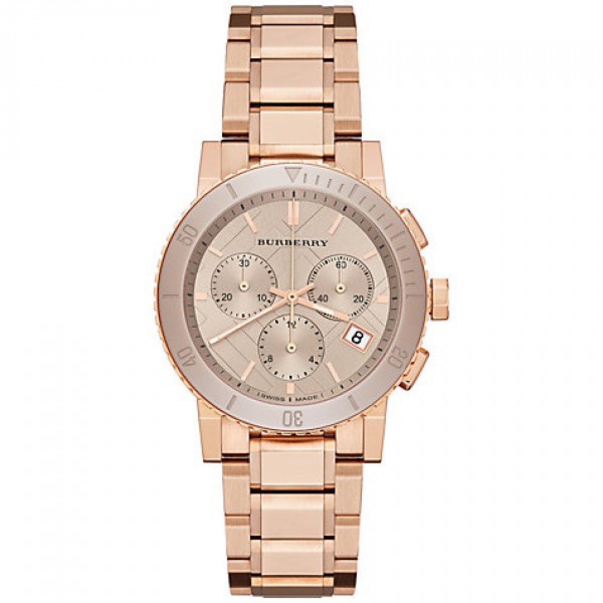 Ladies Burberry The City Chronograph Watch BU9703