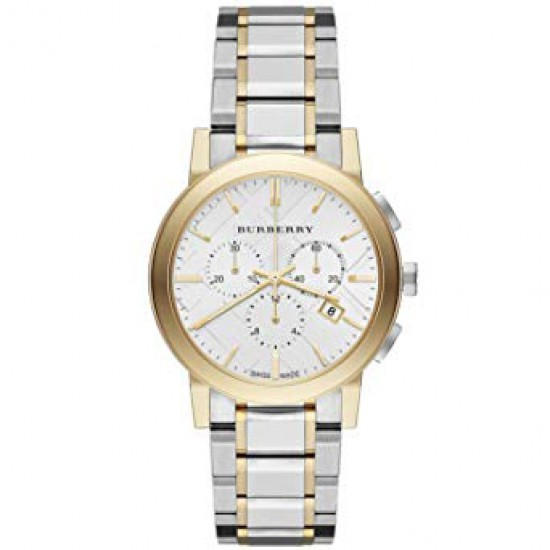 Ladies Burberry The City Two Tone Watch BU9751