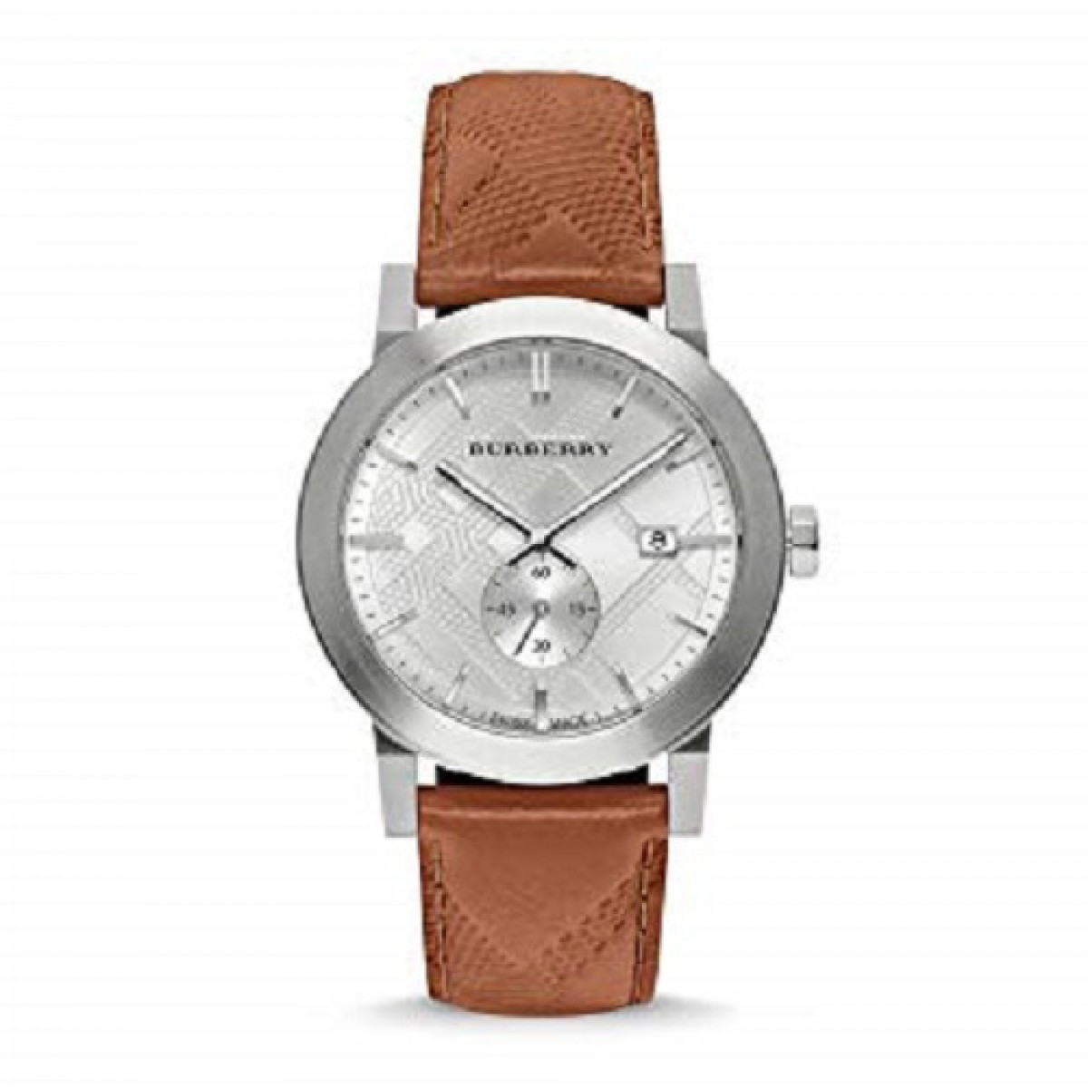 Mens Burberry The City Embossed Check Watch BU9904