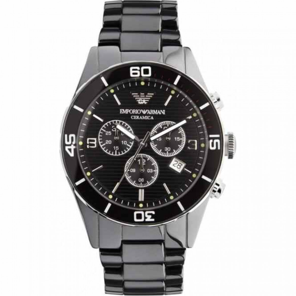 Mens Emporio Armani Ceramic Chronograph Watch AR1421