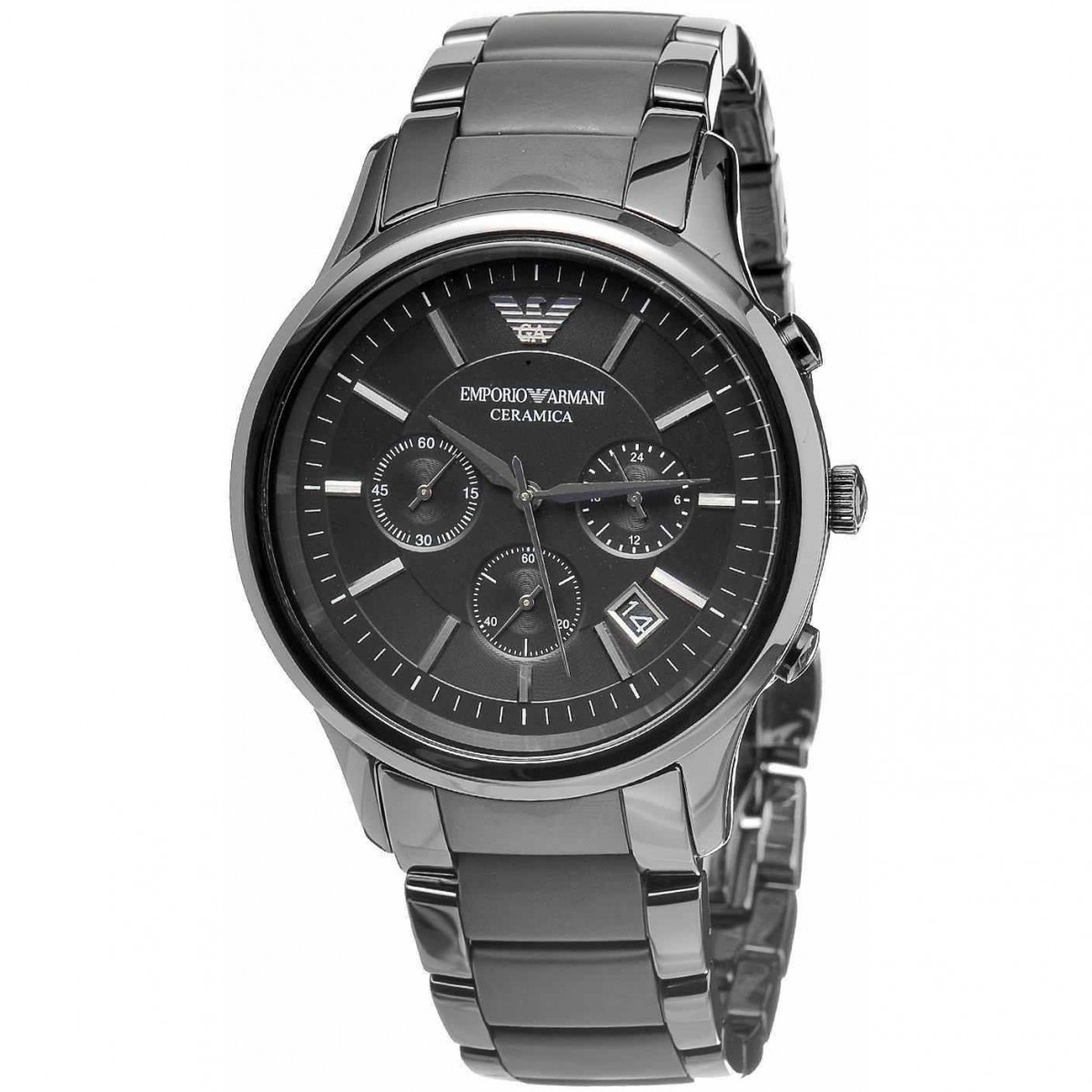 Mens Emporio Armani Ceramic Chronograph Watch AR1452