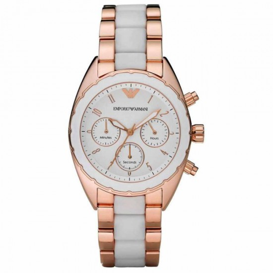 Ladies Emporio Armani Chronograph Watch AR5942