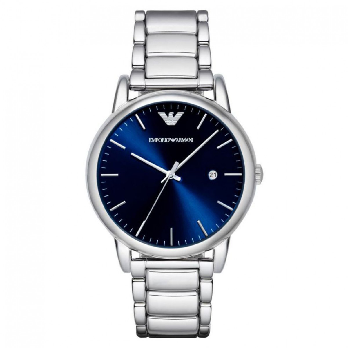 Emporio Armani Mens Dress Silver Watch AR8033