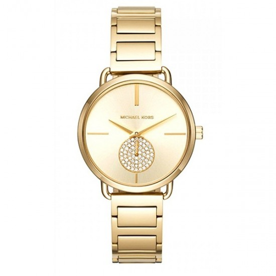 Ladies Michael Kors Portia Gold Watch MK3639
