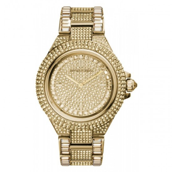 Ladies Michael Kors Camille Gold+ Glitz Stainless Steel Watch MK5720