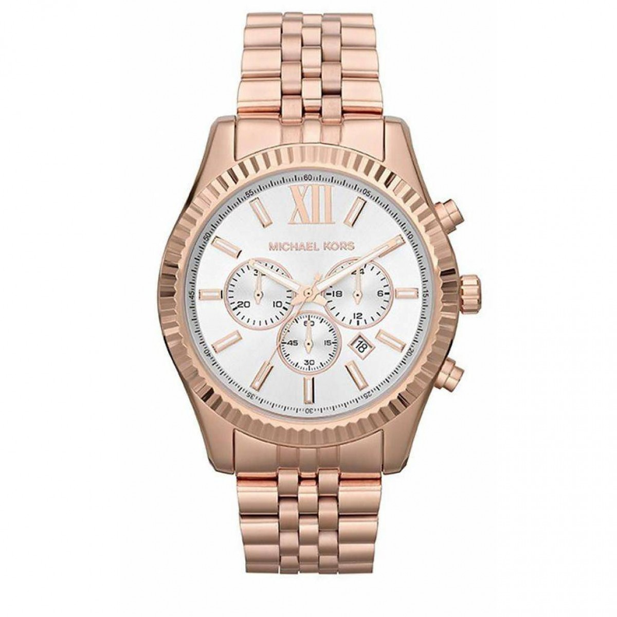 Mens Michael Kors Rose Gold-Tone Lexington Watch MK8313