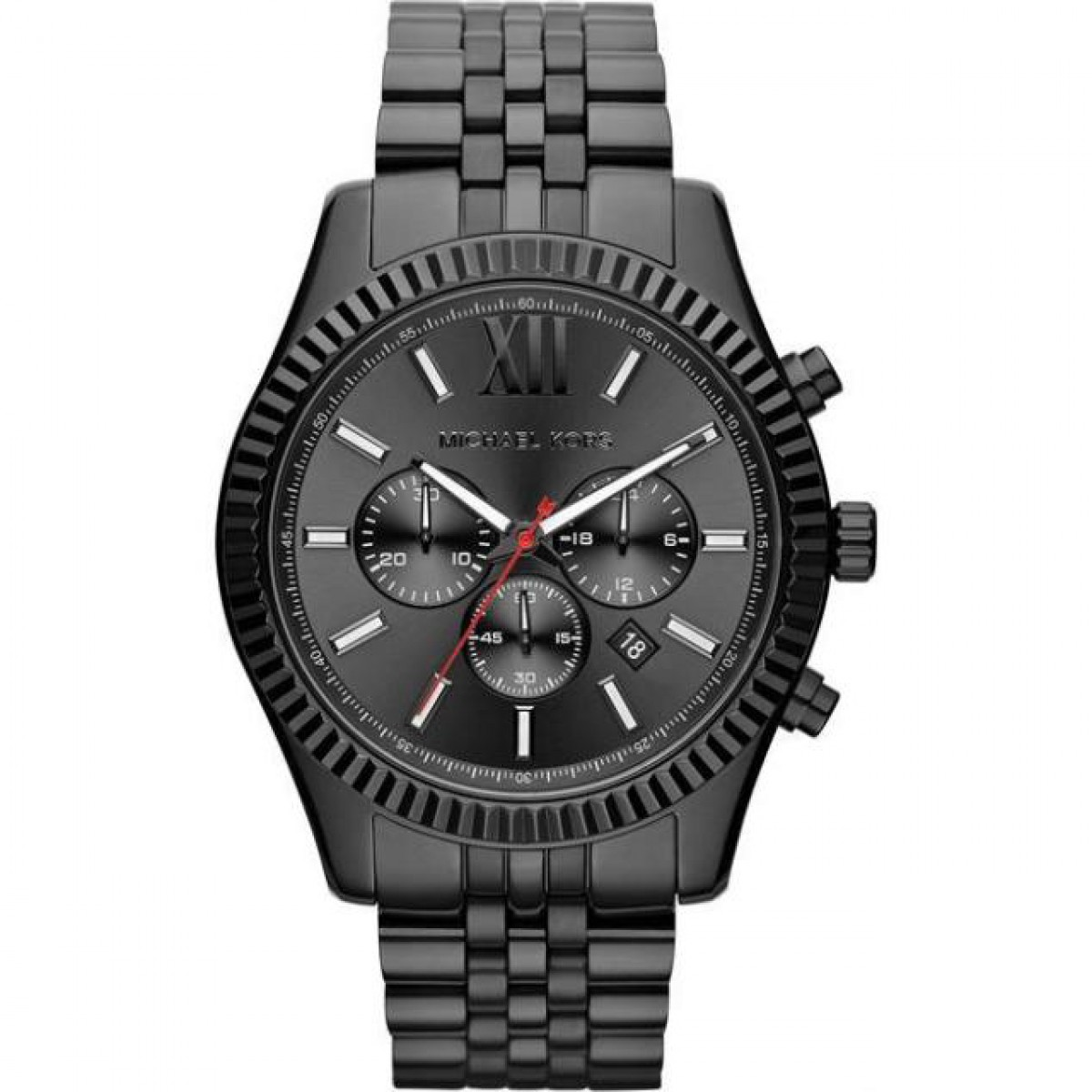 Mens Michael Kors All Black Lexington Chronograph Watch MK8320