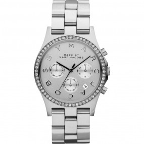 Ladies Marc Jacobs Henry Glitz Chronograph Watch MBM3104
