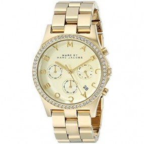 Ladies Marc Jacobs Henry Glitz Chronograph Watch MBM3105