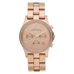 Ladies Marc Jacobs Henry Glitz Chronograph Watch MBM3118