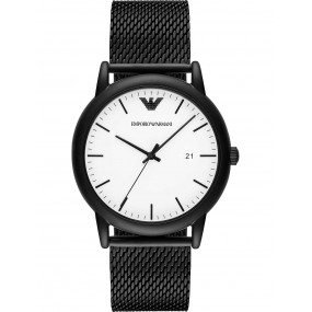 Mens Emporio Armani Black Dress Watch AR11046